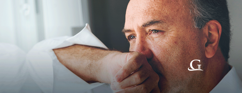 Man Suffering With Mesothelioma Stock Photo