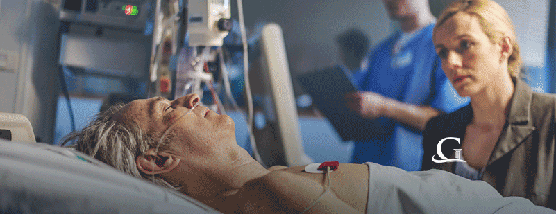 Male Patient On Life Support Stock Photo